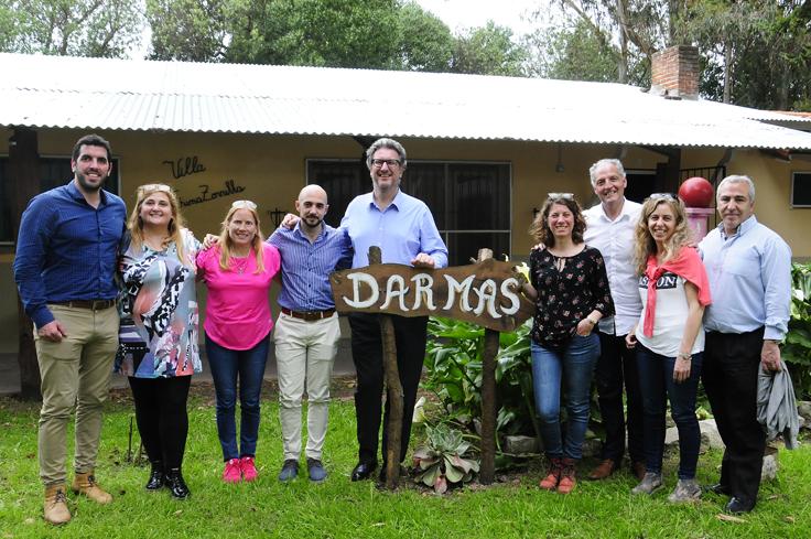 El equipo de IOMA junto a las referentes del Centro de Día Dar Más.