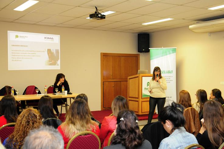 Cristina Amoreo durante su charla